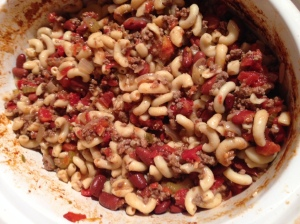 Susan's goulash in a slow-cooker