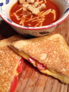 Grilled cheese and chermater soup!