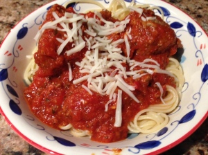 Susan's meatballs and bolognese sauce