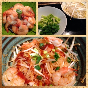 My version of shrimp pad Thai.