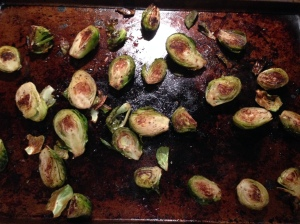 I'm roasting brussel sprouts!