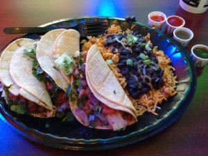 Street tacos at Tijuana Flats