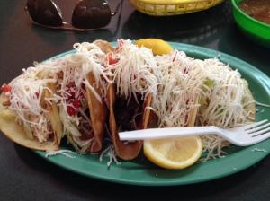 5 tacos at Tacos al Carbon