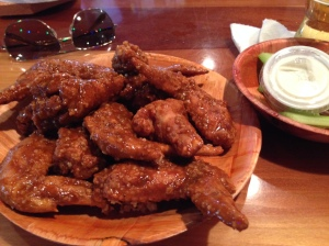 """9-1-1"" wings at Hooters (with minced garlic)"