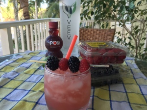 VEEV Pomegranate Margarita with POM