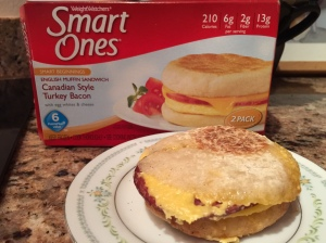 Smart Ones Canadian-Style Turkey Bacon English muffin