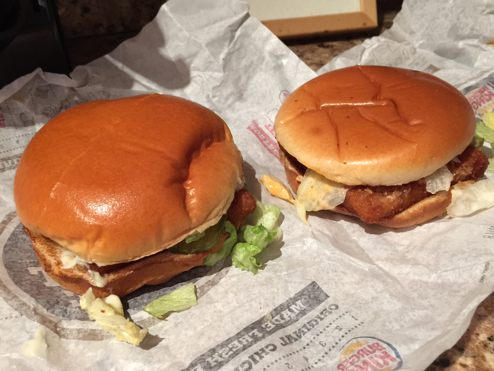 Burger king lent without bacon for Burger king big fish