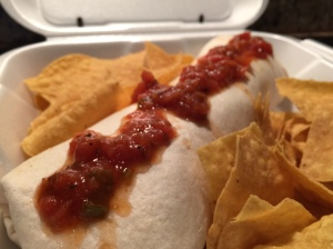 Beef burrito to go